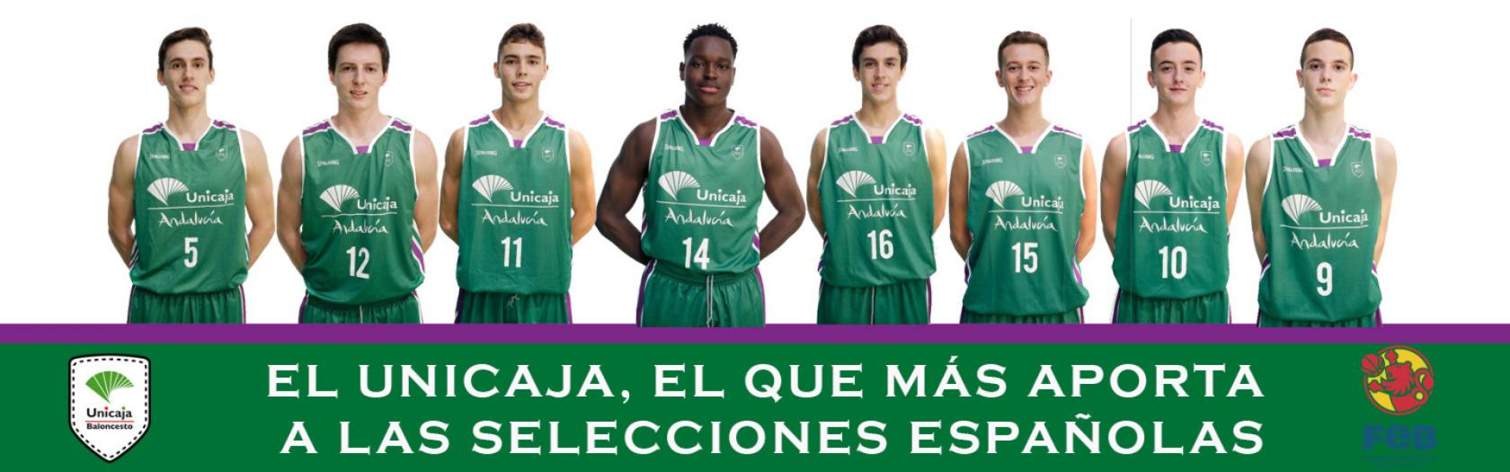 Unicaja the club that has the most players in the Spanish National Teams