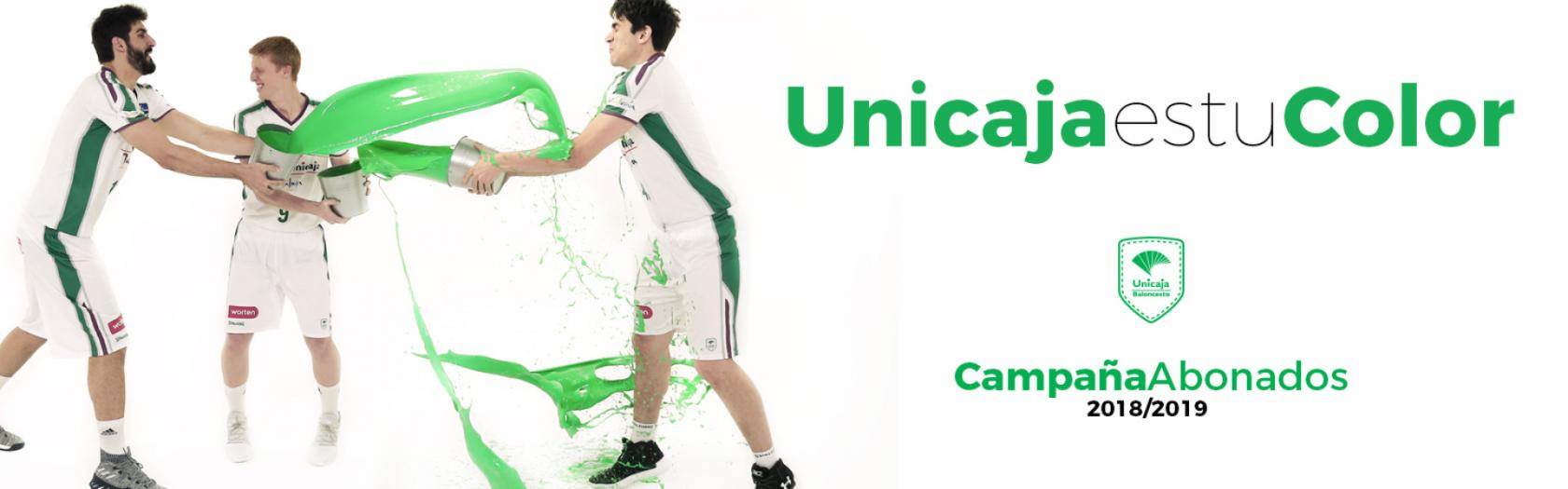 Unicaja is your color. Get your season ticket 18/19