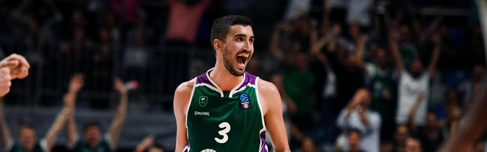 Jaime Fernández and Brian Roberts rescue Unicaja to defeat UNICS Kazan  (82-80)