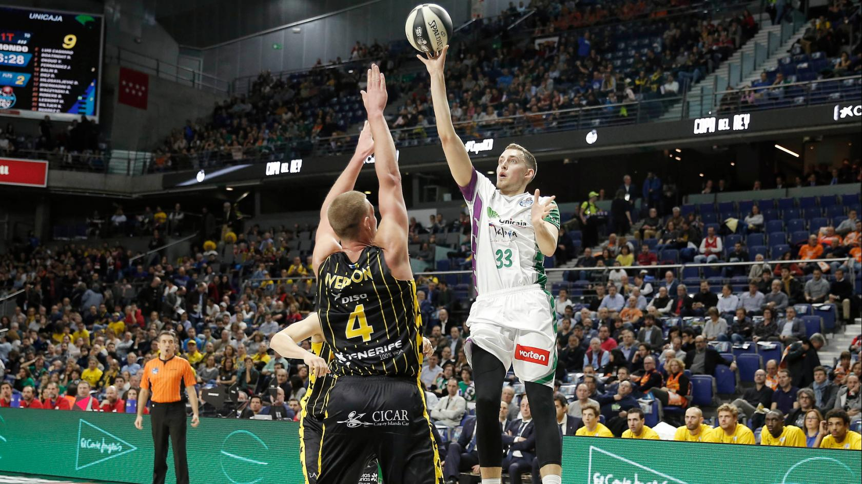 Unicaja was defeated by Iberostar Tenerife at the Copa del Rey (88-78)