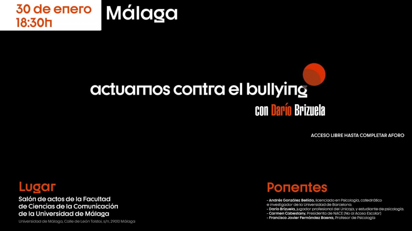 "The campaign ""we act against bullying"" arrives in Malaga"